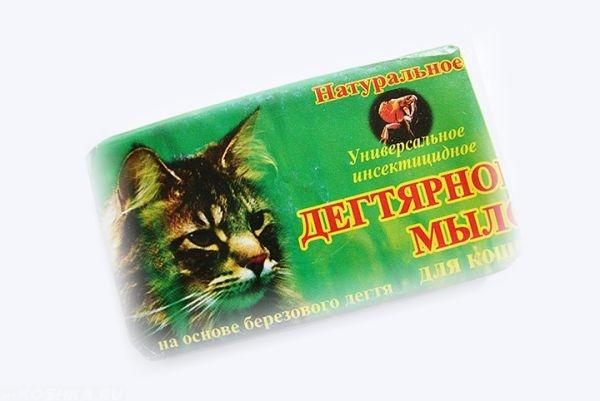 Дегтярное мыло для кошек от блох