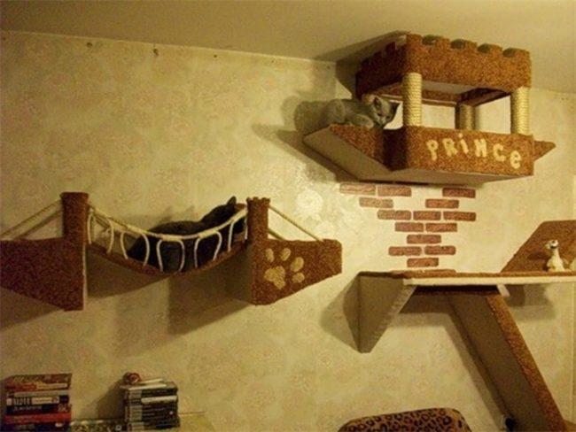 Не обычный домик для кошки своими руками