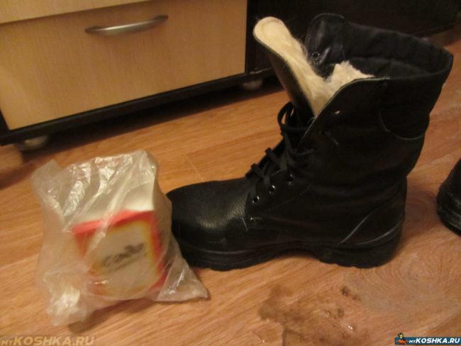Классическая сода и описанный ботинок