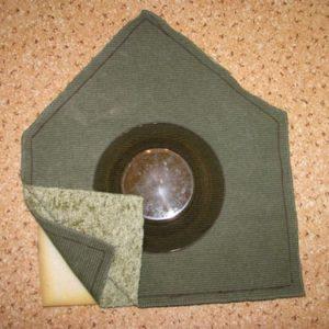 Выкройка под стенку с входом домика для кошки