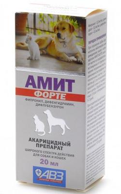 Амит форте акарицидный препарат для кошек против ушного клеща