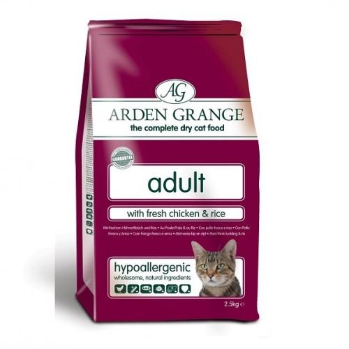 Розовый пакет корма Арден Гранж для кота