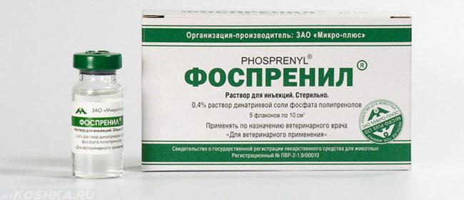 Фоспренил лекарство при панкреатите у кошки