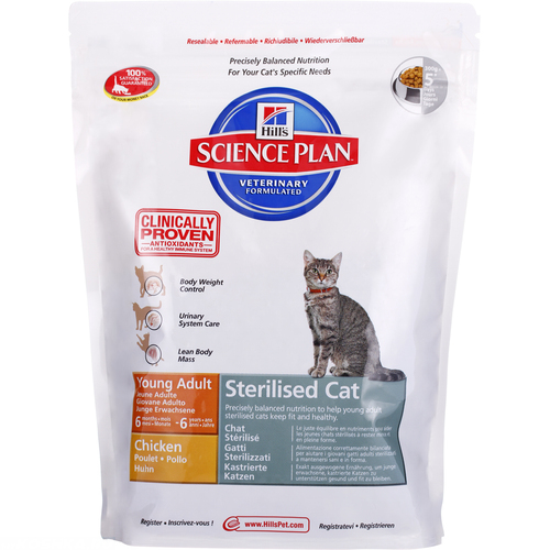Упаковка сухого корма Hills для кастрированных котов