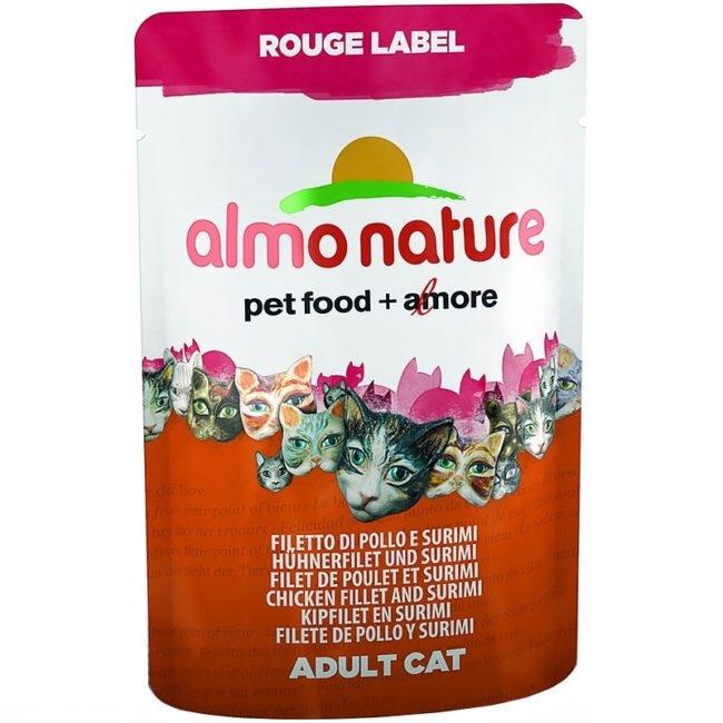 Бело-рыжий пакет корма Альма Натюр для кошек