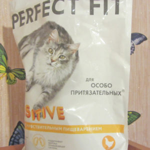 Кошачий сухой корм Пёрфект Фит серии для особо притязательных