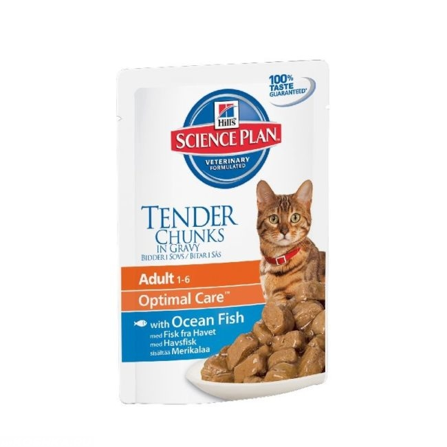 Белый пакет корма Хиллс для кошек