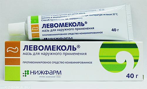 Мазь для лечения абсцесса с антибиотиком Левомеколь