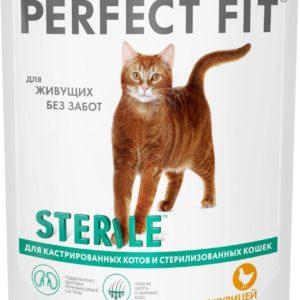Белый пакет корма Перфект Фит для кошек
