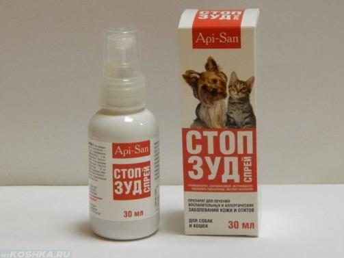 Спрей стоп-зуд для лечения зуда у кошки