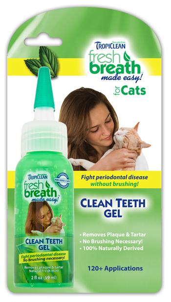 Гель Тропиклин для удаления зубного камня у кошки