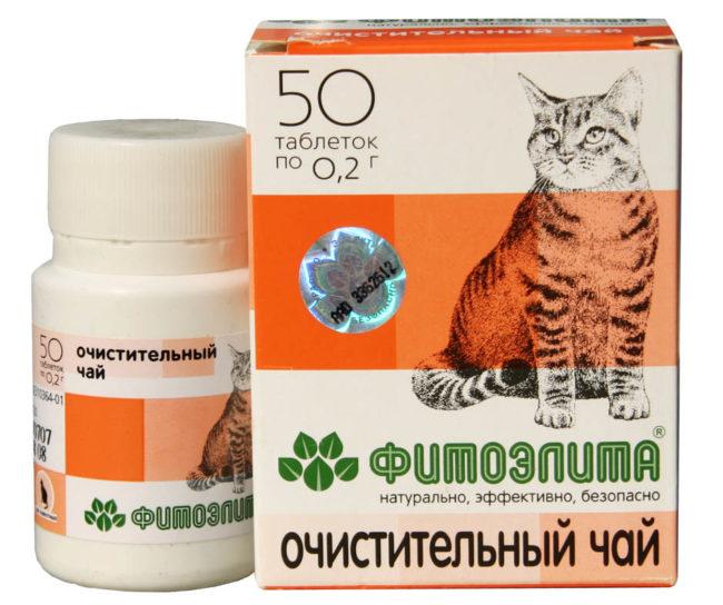 Очистительный чай для кошек фитоэлита