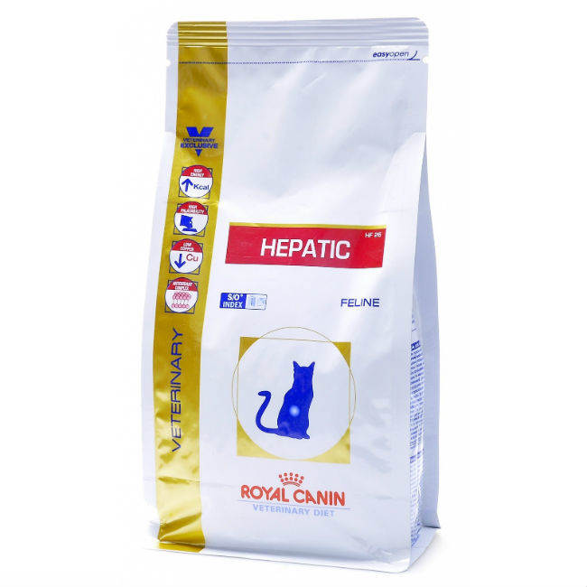 Корм Роял Канин HEPATIC HF26 при болезнях печени у кошки