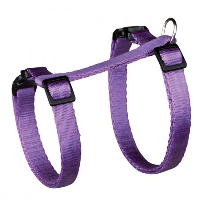 Фиолетовая шлейка для кошки