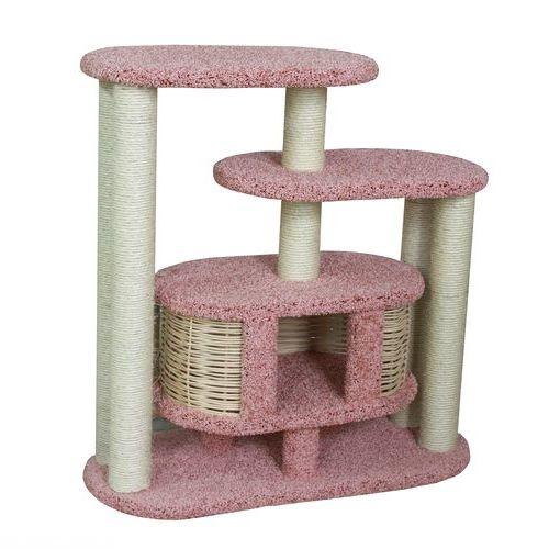 Розово-белый домик для кошки