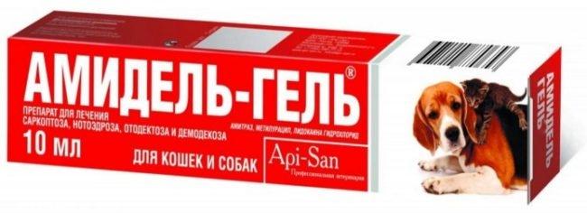 Препарат амидель гель в упаковке