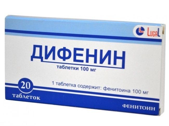 Препарат дифенин в упаковке