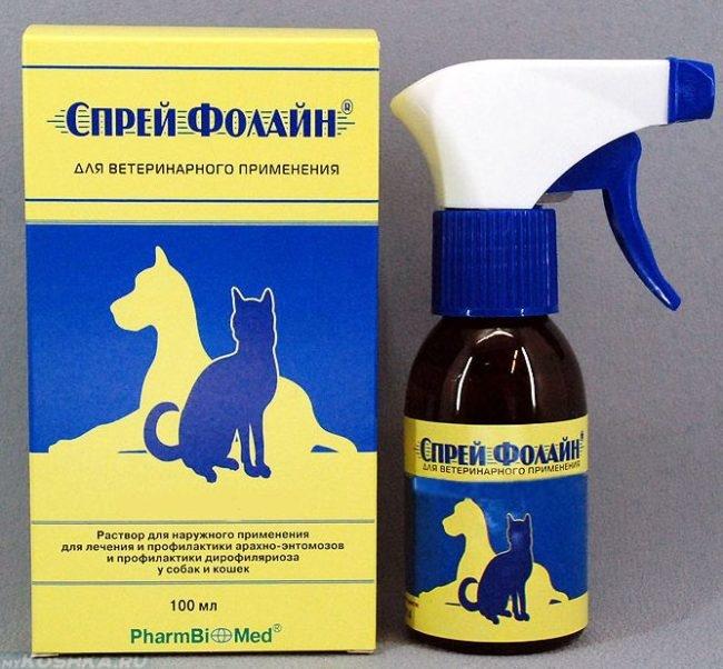 Препарат фолайн спрей для собаки