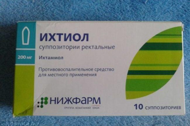 Препарат ихтиол в упаковке