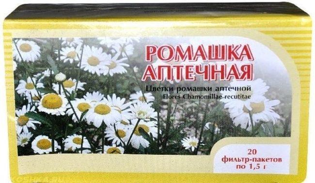 Ромашка аптечная в упаковке