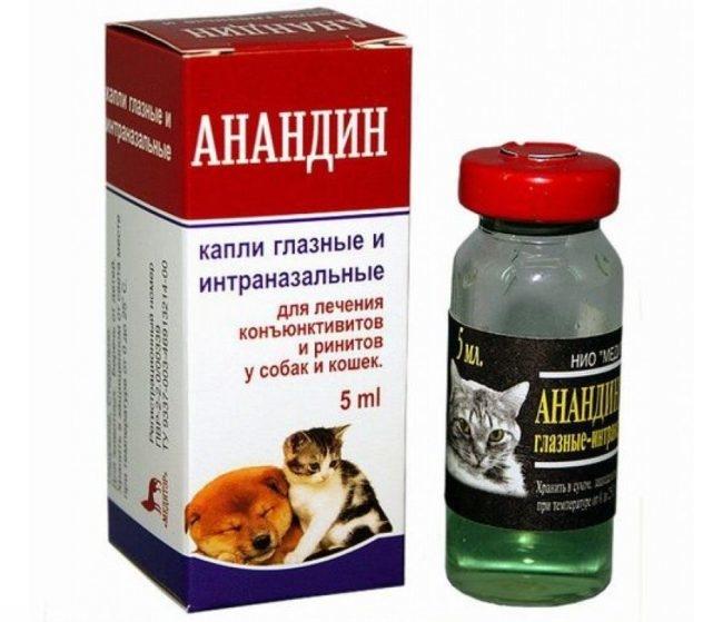 Препарат анандин в бутылочке