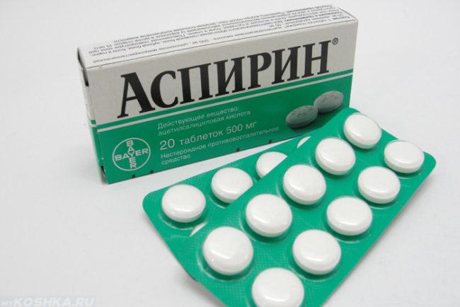 Аспирин в упаковке в виде таблеток