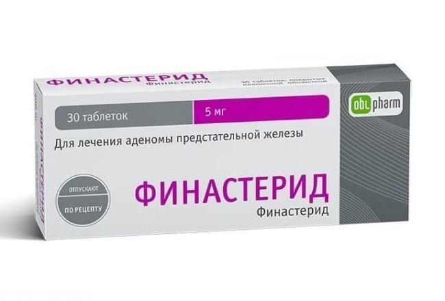 Препарат финастерид в виде таблеток