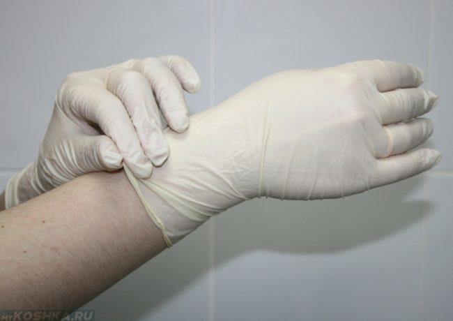 Гинекологические перчатки