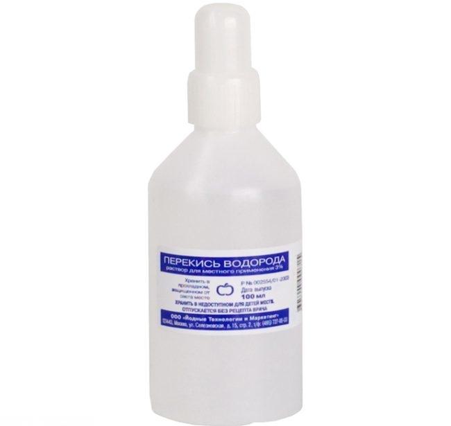 Перекись водорода в бутылочке