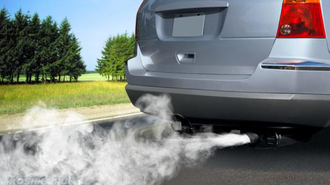 Выхлопные газы от машины