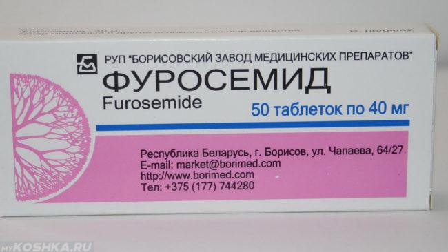 Препарат фуросемид в таблетках