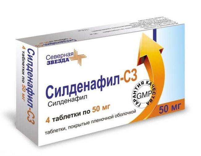 Препарат силденафил в таблетках