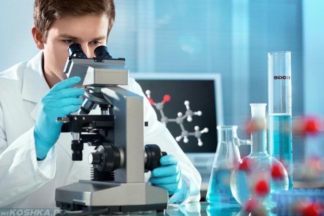 Кровь на исследовании в лаборатории