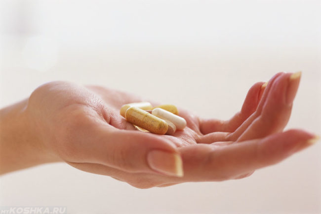 Антигистаминные препараты в руке
