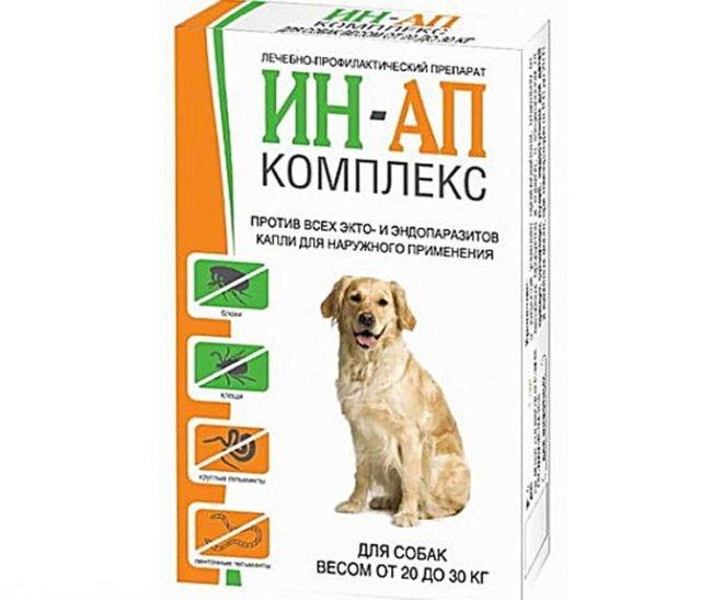 Ин ап комплекс для собак от паразитов