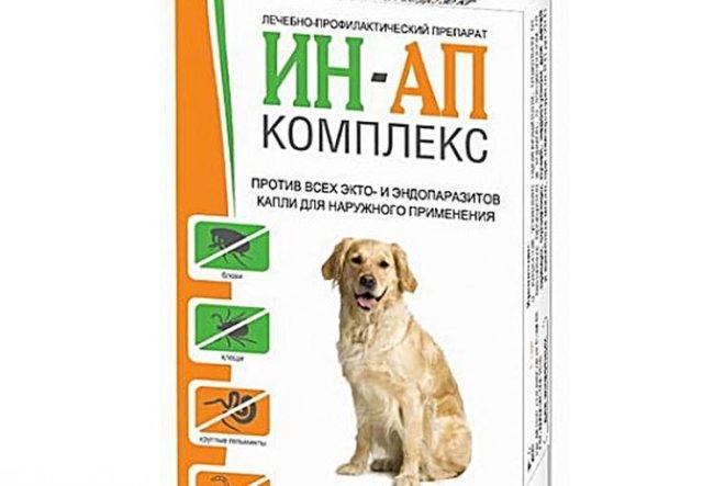 Ин ап комплекс для собак в упаковке