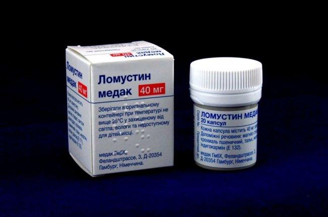 Препарат ломустин в упаковке
