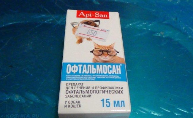 Препарат офтальмосан в упаковке