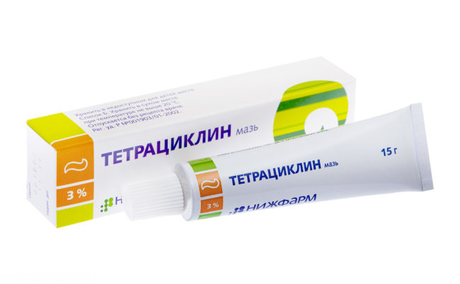Мазь тетрациклин в тюбике