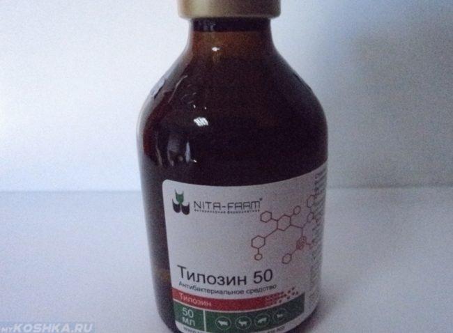 Препарат тилозин в баночке