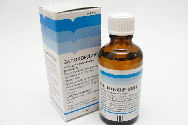 Препарат валокордин в бутылочке