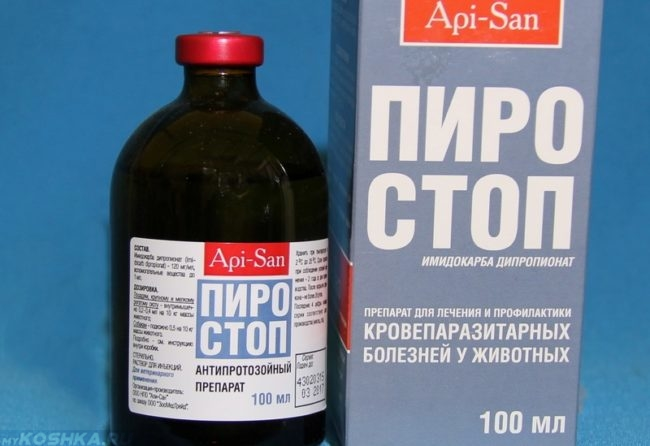 Препарат пиростоп в бутылочке