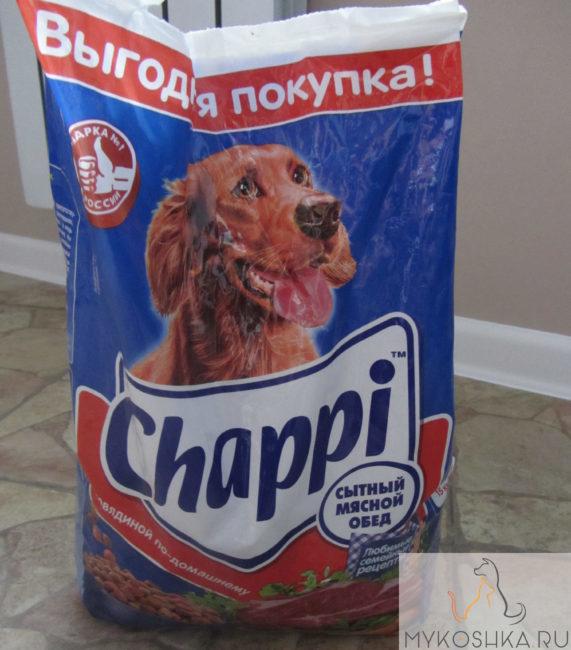 Упаковка сухого корма для собак крупных пород
