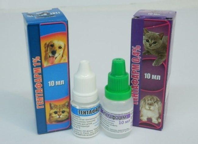 Капли для лечения глазных заболеваний у кроликов и домашних животных